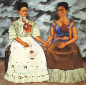 The Two Fridas by Frida Kahlo; Image credits: fridakahlo.org