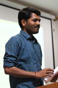 Manjunayak Chellur reading his story - ಫೂ